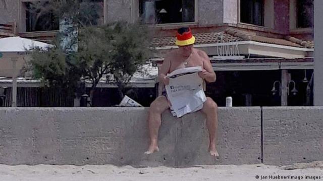 Німецький турист на Майорці