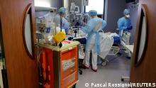Bildergalerie Frankreich vor landesweitem Lockdown | Krankenhaus in Cambrai
