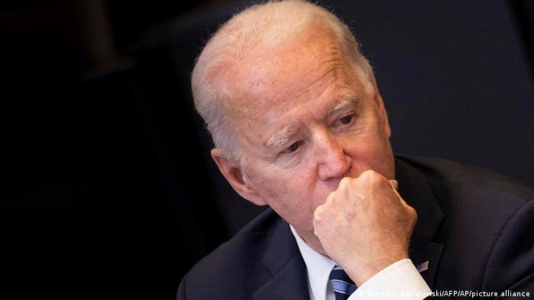 Joe Biden, pensativo durante la reunión de la OTAN en Bruselas