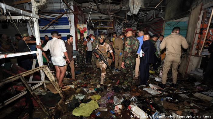 Irak Bagdad   Anschlag   Al-Wahilat Markt