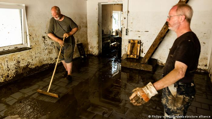 Germany severe weather disaster |  Clean-up work in Rhineland-Palatinate