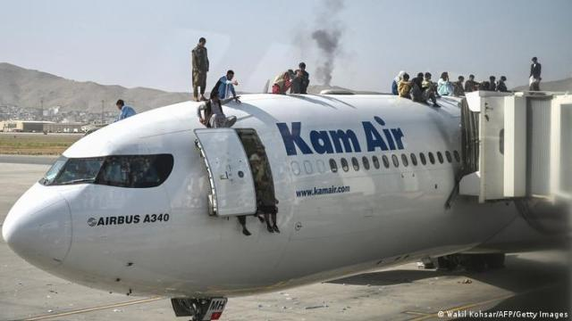 Aeropuerto de Kabul, capital de Afganistán