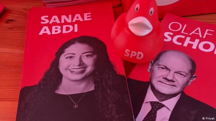 The Socialist Party's candidate for the Bundestag, Sana Abdi