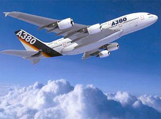 نموذج لطائرة ايرباص العملاقة A380