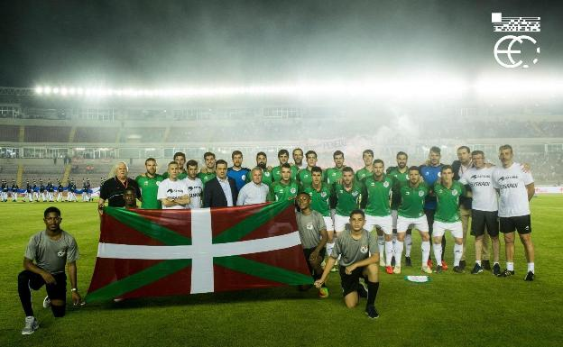 Last match of the Basque Country team, in May 2018 in Panama-