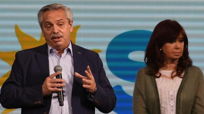 Alberto Fernández y Cristina Kirchner, tras las PASO 2021.