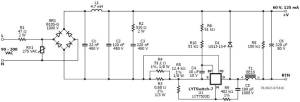 22W acdc supply for LED light bulbs