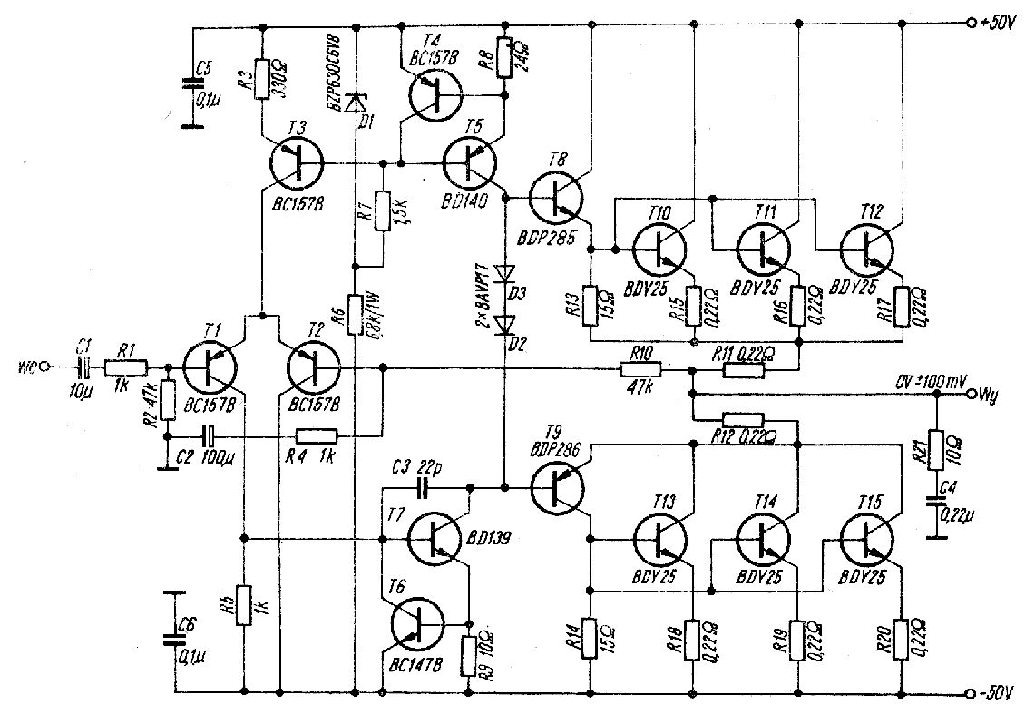 Schemat Wzmacniacza O Impedancji 8 Ohm I Mocy 500 Rms