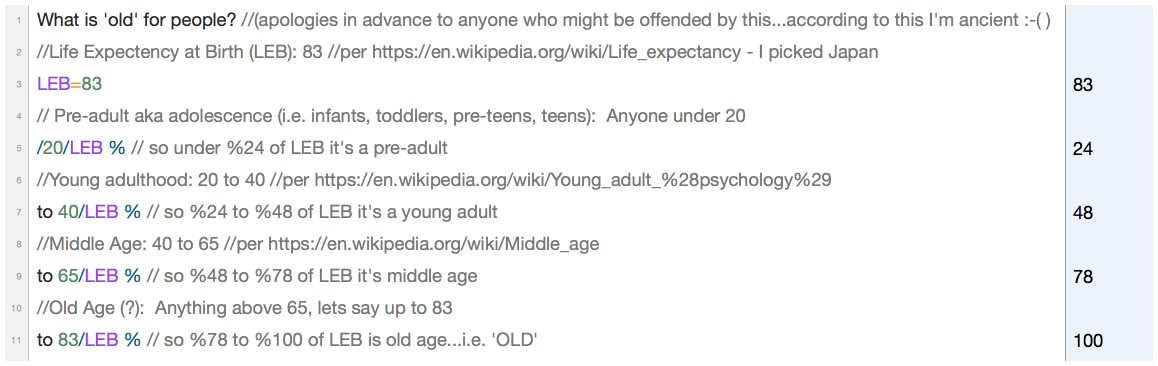 Damn it - what is 'old'?