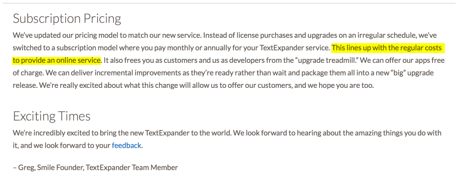 Smile Software Announcement - 3