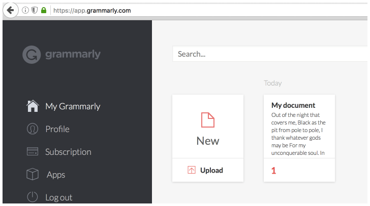 Where does your work reside after Grammarly checks it?