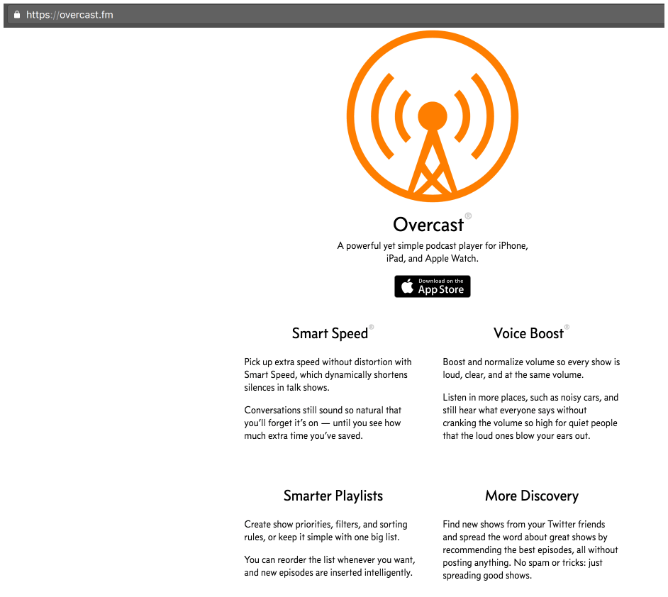 Overcast - the best podcast player