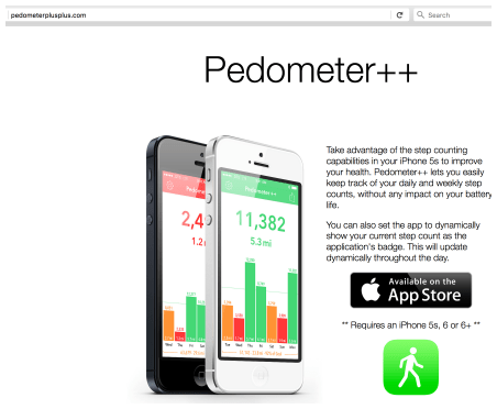 Pedometer++ - great step-tracking for that 10,000 steps per day goal