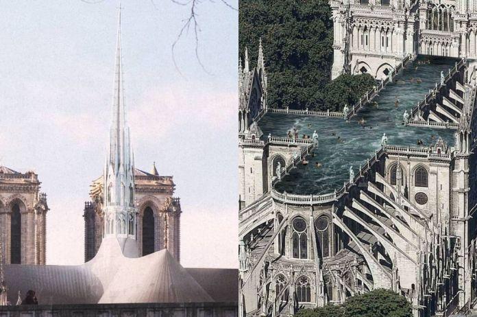 Resultado de imagen para una piscina restaurar la catedral de Notre Dame