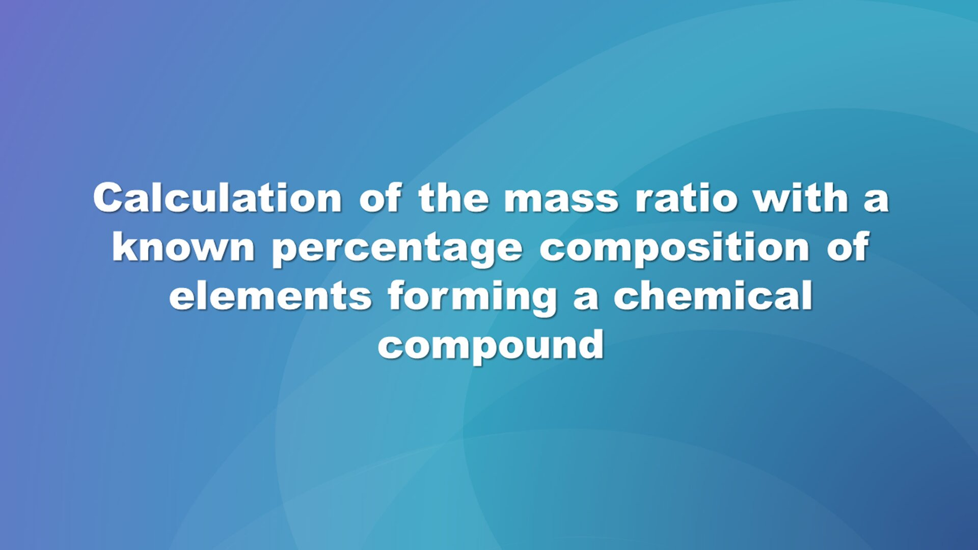 How To Calculate Molecular Weight Percentage Composition