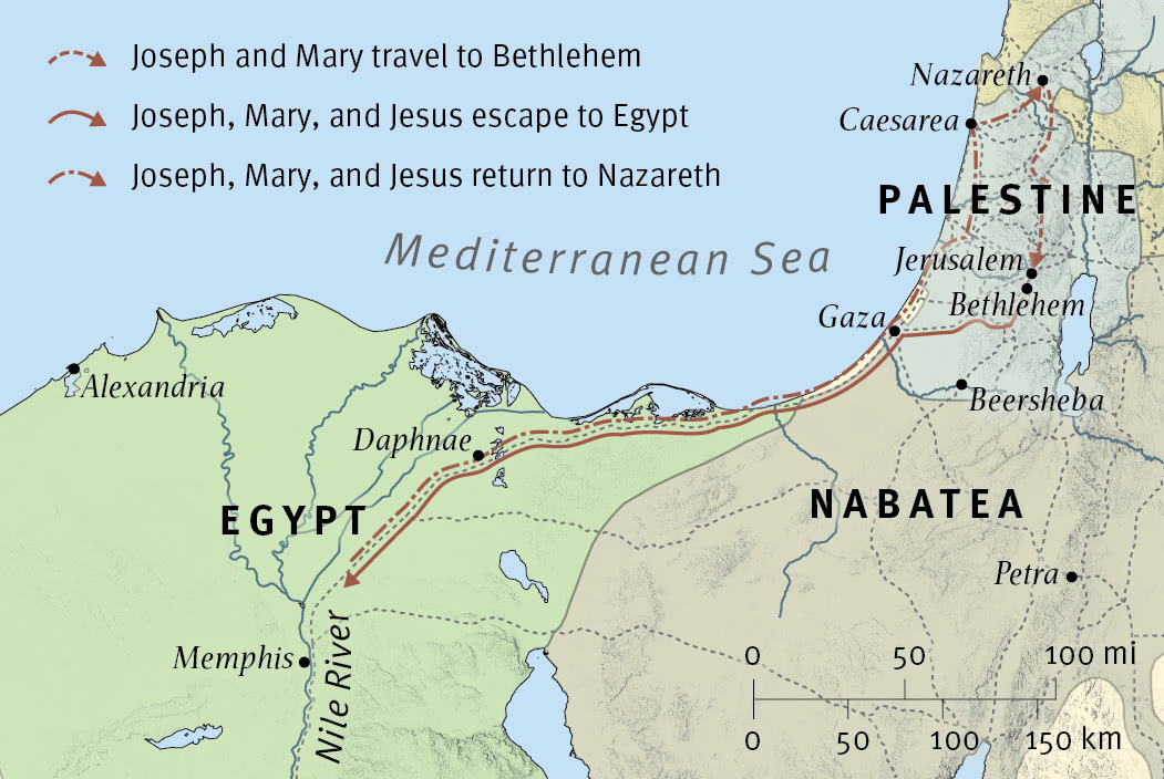 Jesus' Birth and Flight to Egypt