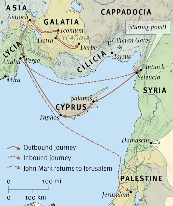 Paul's First Missionary Journey (Acts 13:4–14:26)