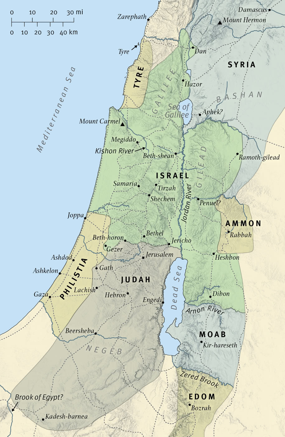 Map 6: The Kingdoms of Israel and Judah