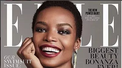 24-year-old Angolan model 'covers' Elle USA mag with her 'natural hair'