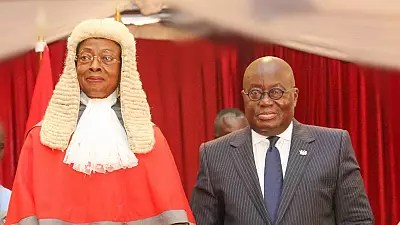 Ghana swears in its second successive female Chief Justice
