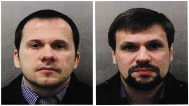 The two suspects in the Novichok murder case are Russian intelligence officers, says PM Theresa May.