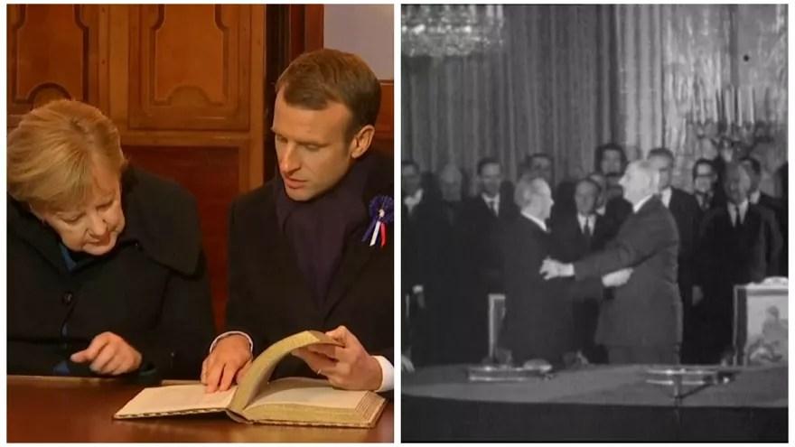 Du Traité de l'Elysée au Traité d'Aix-la-Chapelle, 56 ans de relations franco-allemandes