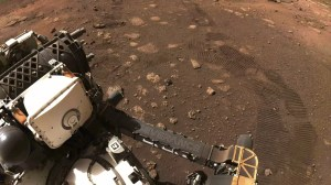 NASA's Mars rover Perseverance is riding on the red planet for the first time