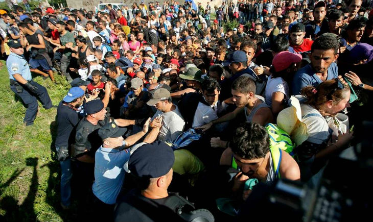 [Vidéo] Croatie : Des foules de migrants ont brisé les lignes de police anti-émeute sur la frontière croate à Tovarnik
