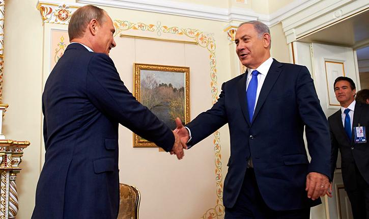 Rencontre au sommet entre Netanyahu et Poutine au sujet du conflit syrien
