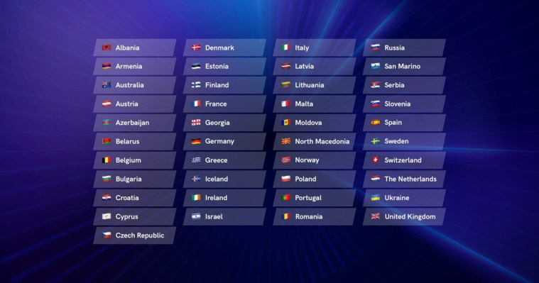 41 Countries to participate at Eurovision 2021 - Eurovision Song Contest