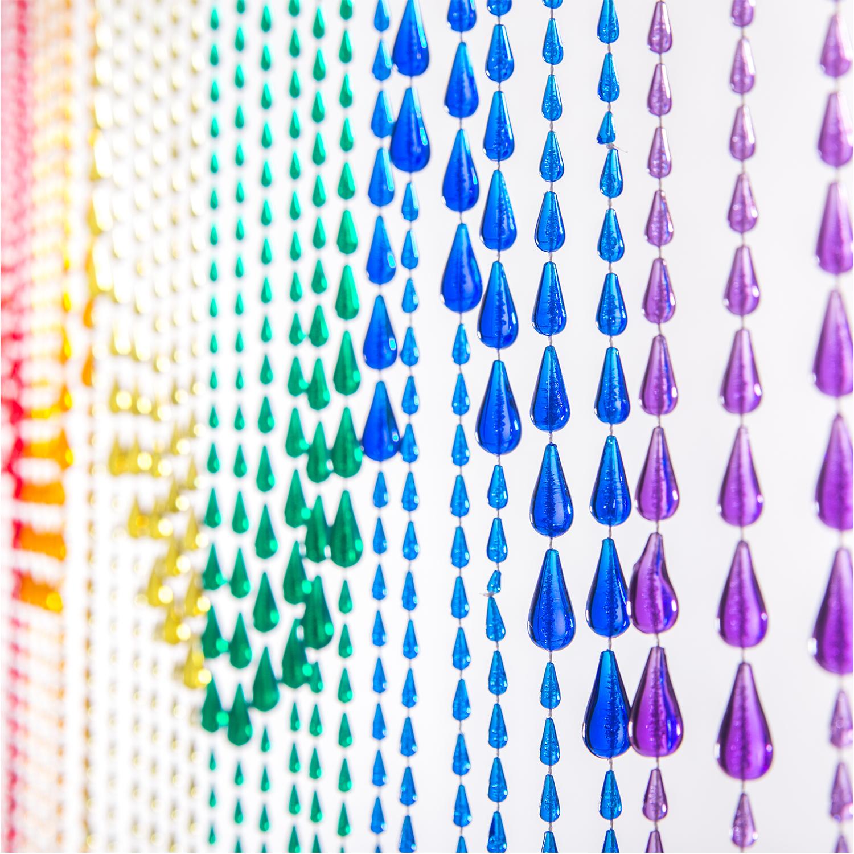 decostar 6ft rainbow iridescent raindrop curtain