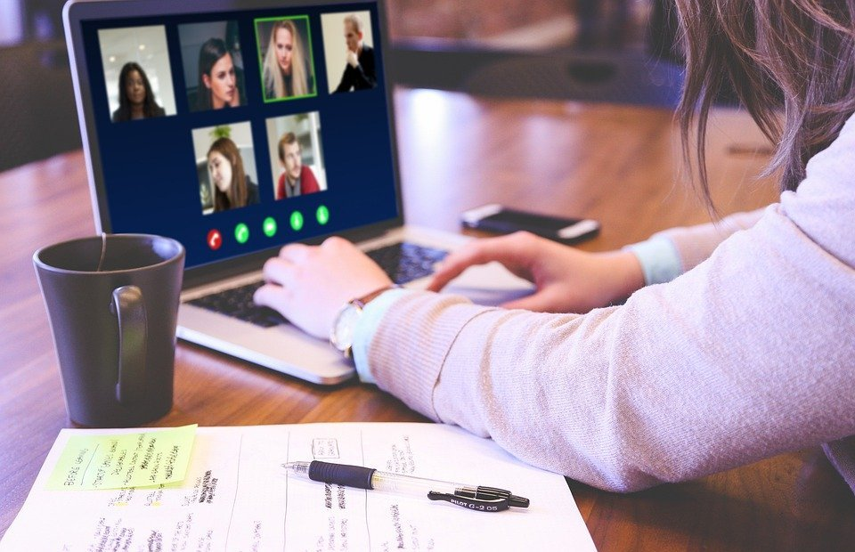 video conference, skype, webinar