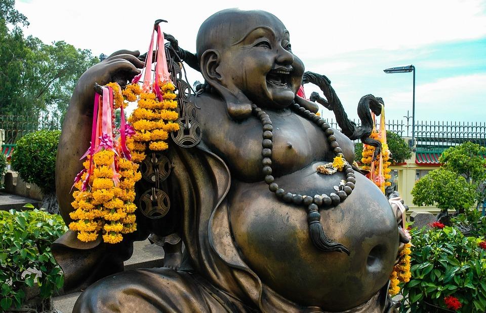 broncefigur, buddah, fat belly