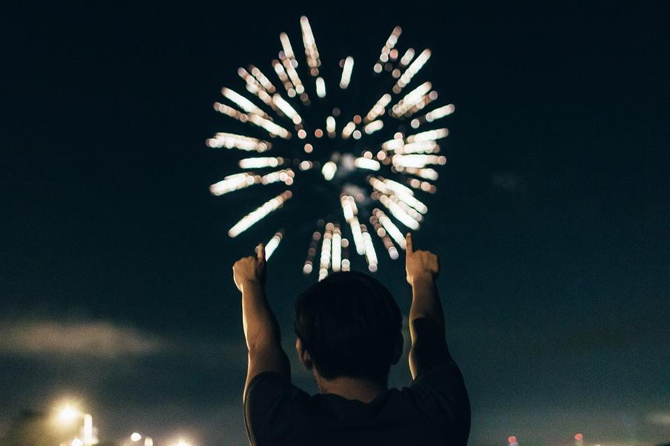 boom, fireworks, american