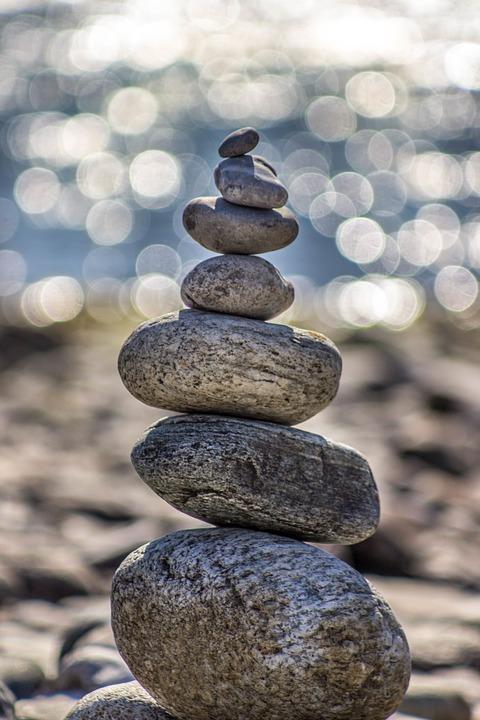 stones, pebbles, round