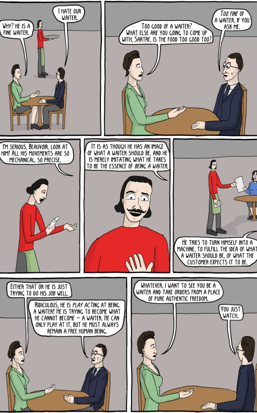 Sartre's waiter (existential comics)