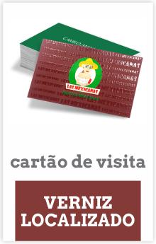Cartão de Visita de Verniz Localizado