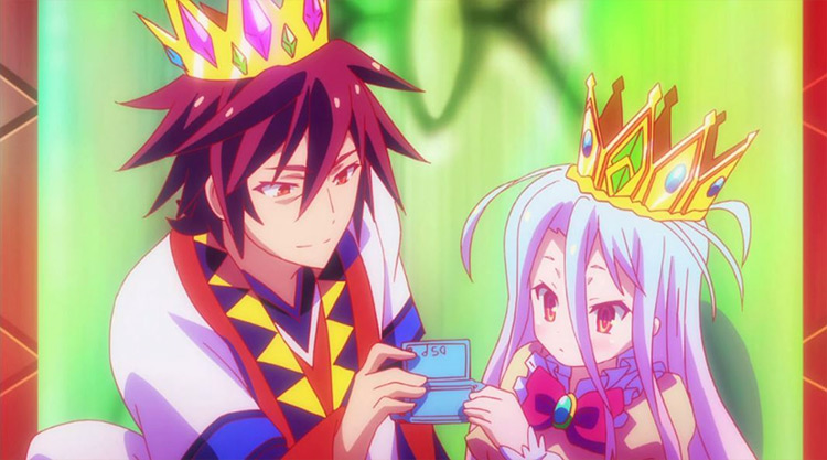 Sora and Shiro from No Game, No Life anime