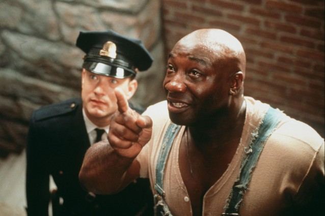 "Clarke Duncan alaturi de Tom Hanks in colosalul film ""Green Mile"""