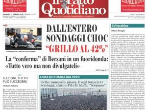 Il sondaggio elettorale bufala che dà Grillo al 42%.