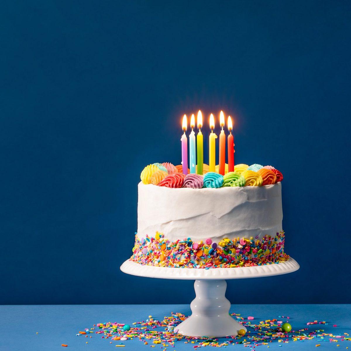 Birthday Polka Dot Cake