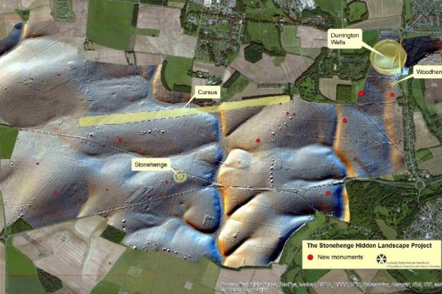 La mappa del 'gemello' di Stonehenge