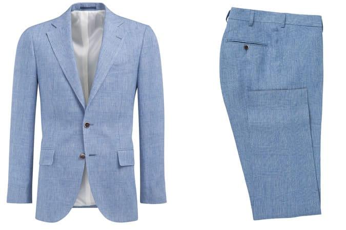 Suitsupply Lazio Light Blue Check Suit