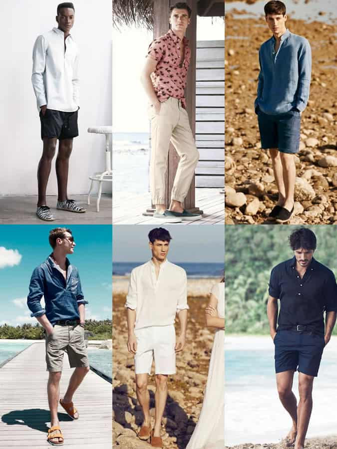 Men's Popover Shirts Spring/Summer Outfit Inspiration Lookbook