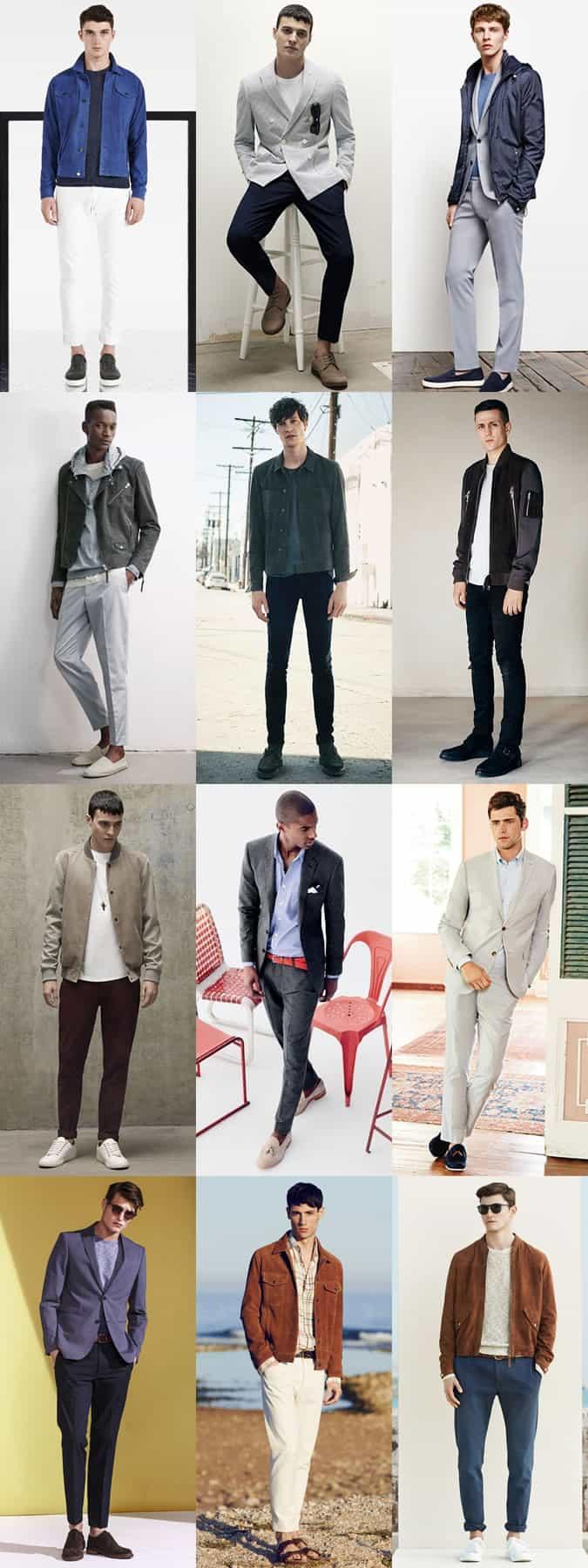 Chaussures et vestes en daim pour homme Look de printemps / été Inspiration Lookbook