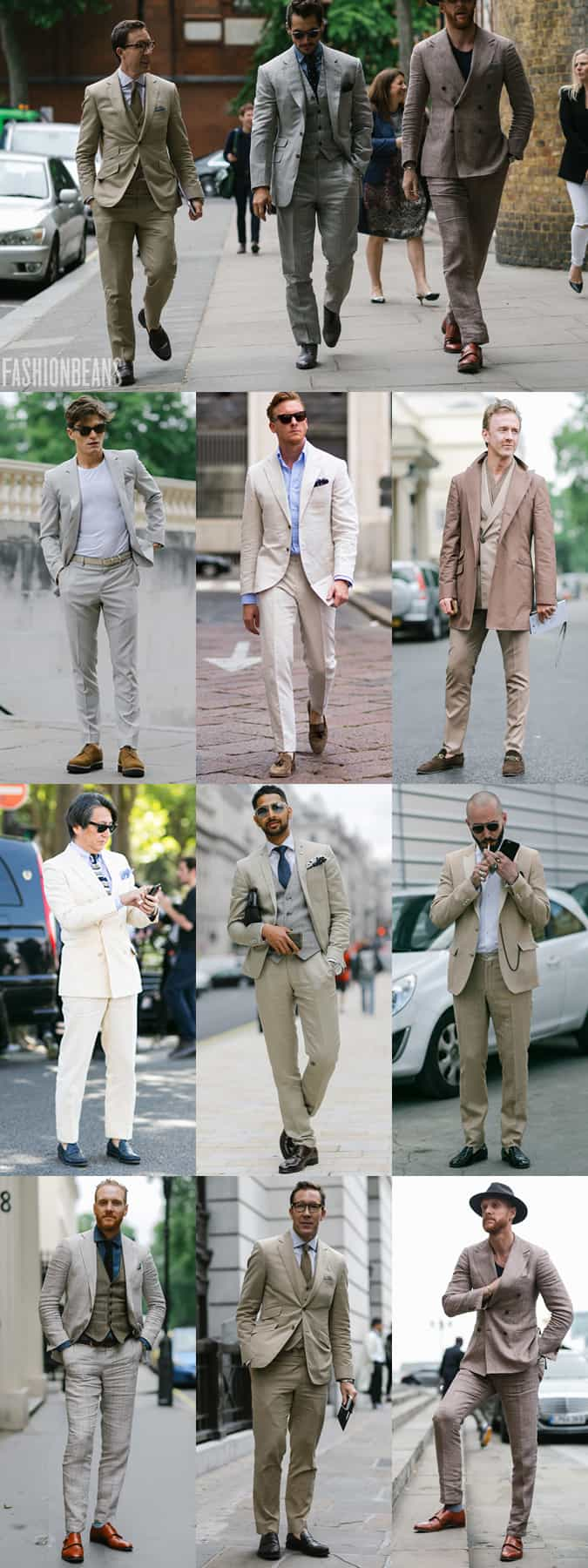 Men's SS16 Street Style Trends - Neutral Suiting