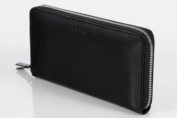 Portefeuilles Paul Smith - Portefeuille de voyage zippé en cuir noir