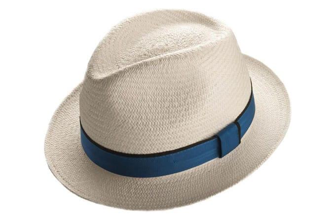 Bande de Witney Snap Brim Panama Bleached Blue