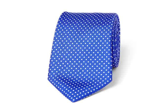 Cravate en soie à pois Turnbull & Asser