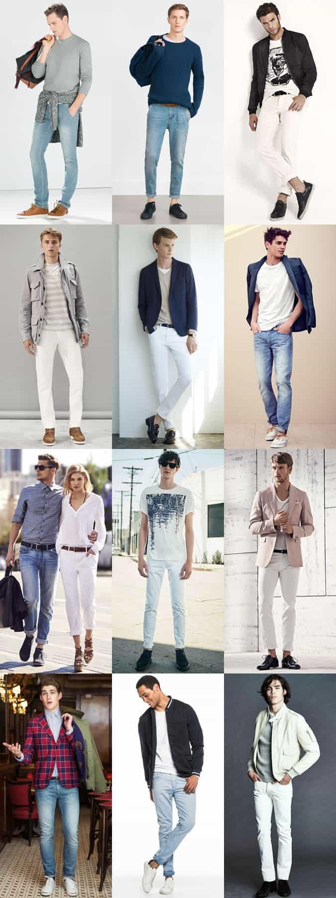 Lookbook Inspiration pour hommes en délavage clair et jeans blancs